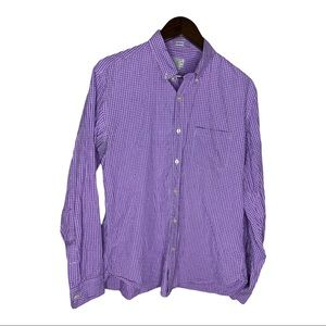J CREW PURPLE CHECKED BUTTONED DOWN SHIRT L